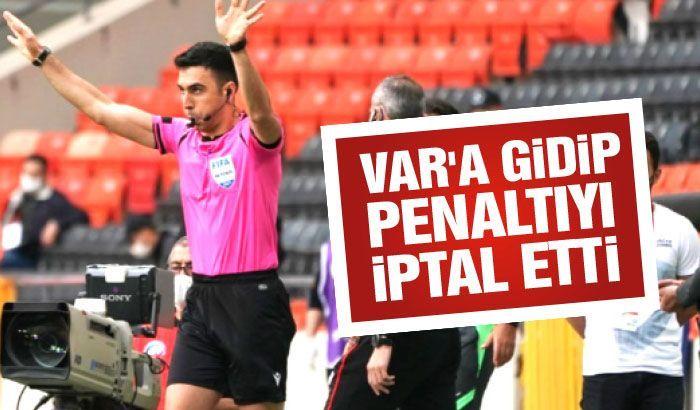 Penaltı VAR'dan döndü...