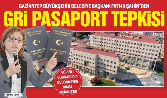 ŞAHİN'DEN GRİ PASAPORT TEPKİSİ