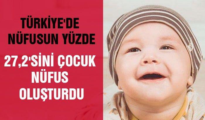 Türkiye'de nüfusun yüzde 27,2'sini çocuk nüfus oluşturdu