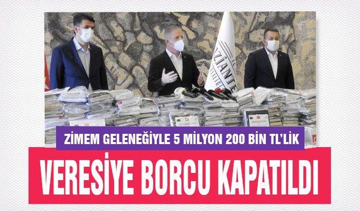 Zimem geleneğiyle 5 milyon 200 bin TL'lik veresiye borcu kapatıldı