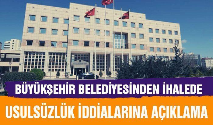 Gaziantep Büyükşehir Belediyesinden ihalede usulsüzlük iddialarına ilişkin açıklama