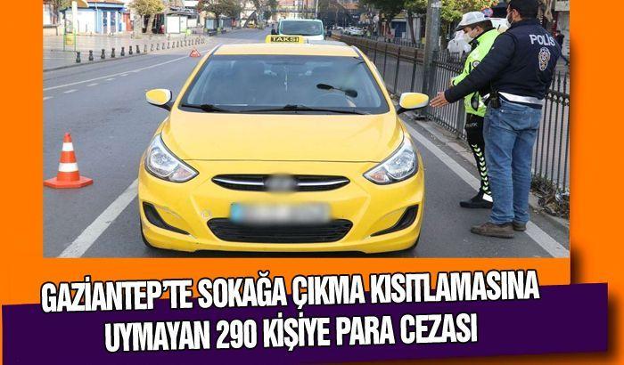 Sokağa çıkma kısıtlamasına uymayan 290 kişiye para cezası