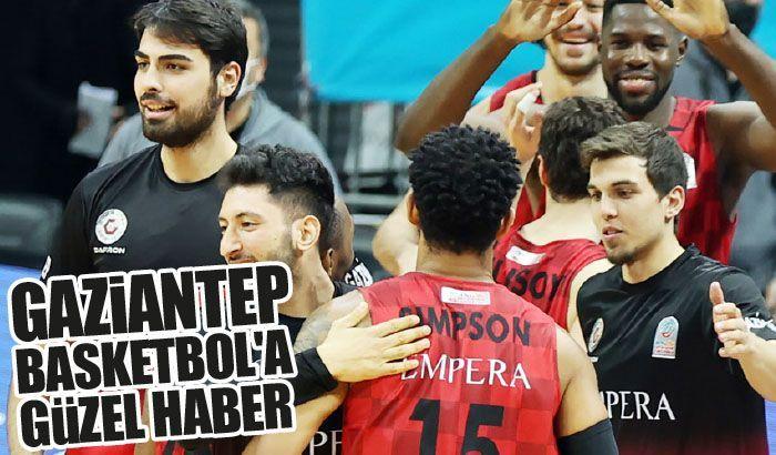 Gaziantep Basketbol'a güzel haber