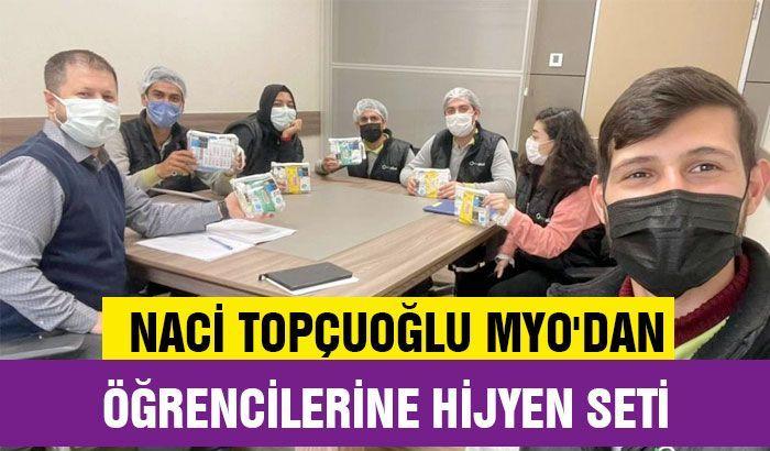 Naci Topçuoğlu MYO'dan öğrencilerine hijyen seti