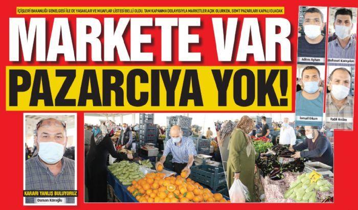 Markete var, pazarcıya  yok