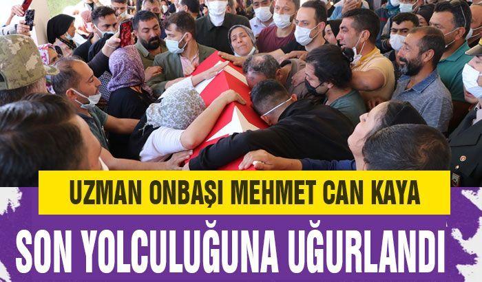 Uzman Onbaşı Mehmet Can Kaya, memleketi Gaziantep'te son yolculuğuna uğurlandı