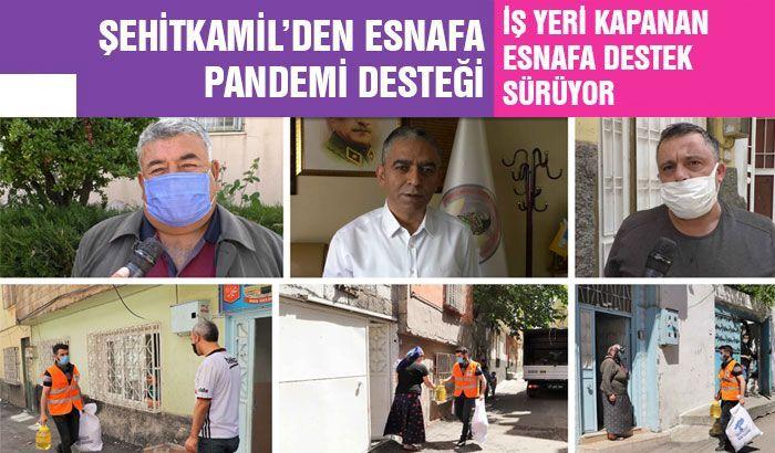 Şehitkamil'den esnafa pandemi desteği
