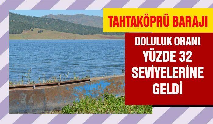 Tahtaköprü Barajı'nın doluluk oranı yüzde 32 seviyelerine geldi