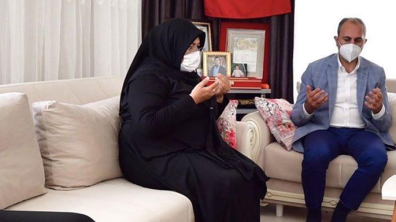 Adalet Bakanı Gül,şehit ailesini Cumhurbaşkanı Erdoğan ile telefonla görüştürdü