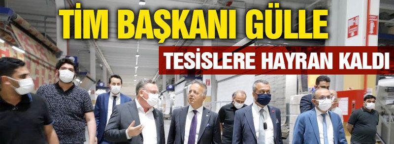 TİM Başkanı Gülle halıcıların tesislerine hayran kaldı