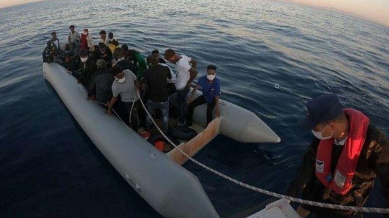 Son bir haftada 215 düzensiz göçmen kurtarıldı