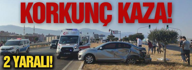 Korkunç kaza! 2 yaralı!