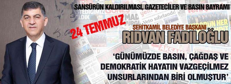"""Rıdvan Fadıloğlu: """"Basın güçlü demokrasilerin en önemli unsurlarından biridir"""""""