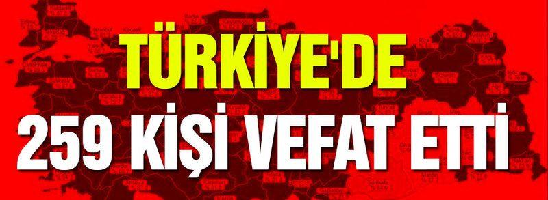 Türkiye'de 259 kişi vefat etti