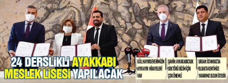 GAZİANTEP'E 24 DERSLİKLİ  AYAKKABI MESLEK LİSESİ YAPILACAK