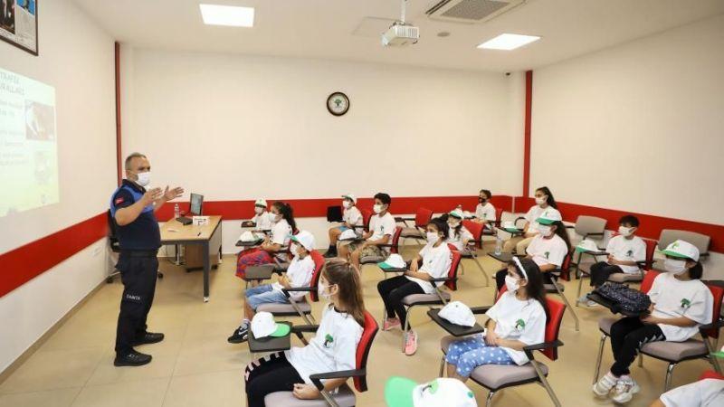 Trafik Eğitim Parkı'nda eğitimlere devam