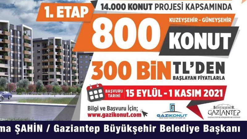 14 Bin Konut Projesi'nde ön talep başvurular başladı