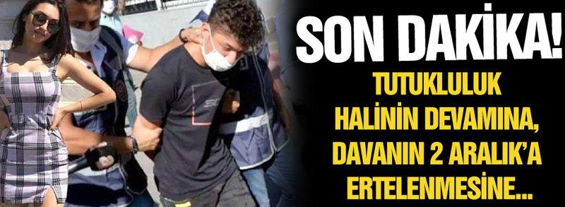 Son dakika! Tutukluluk halinin devamına, davanın 2 Aralık'a ertelenmesine...