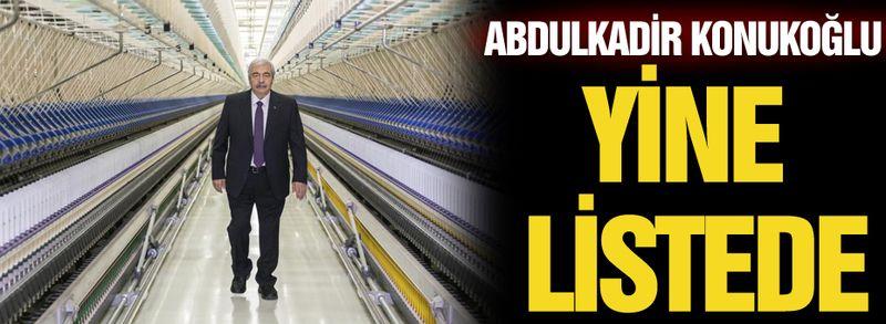 Abdulkadir Konukoğlu yine listede