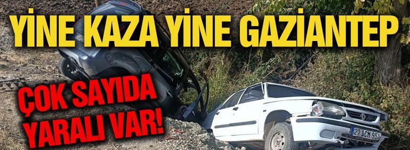 Yine kaza, yine Gaziantep... Çok sayıda yaralı var!