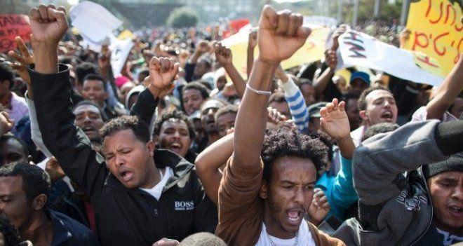 Afrikalı sığınmacılardan Tel Aviv'de protesto