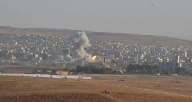 Kobani, koalisyon güçlerinin bombardımanı altında