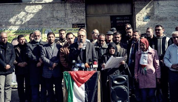 Siyonist İsrail hapishanelerindeki yaklaşık 7 bin Filistinli'ye destek gösterisi