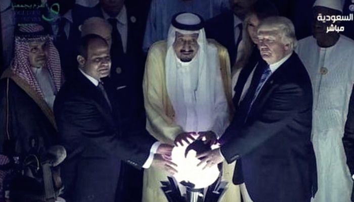 Kral Selman, Sisi ve Trump'la 'Uluslararası Radikal Düşünceyle Mücadele Merkezi' açtı
