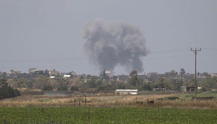 İşgalci İsrail, Gazze'yi SİHA'larla vurdu