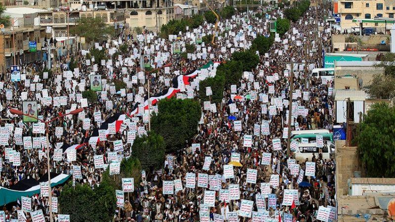 Yemen'de Siyonistlerin dizlerini titreten Kudüs Günü yürüyüşü