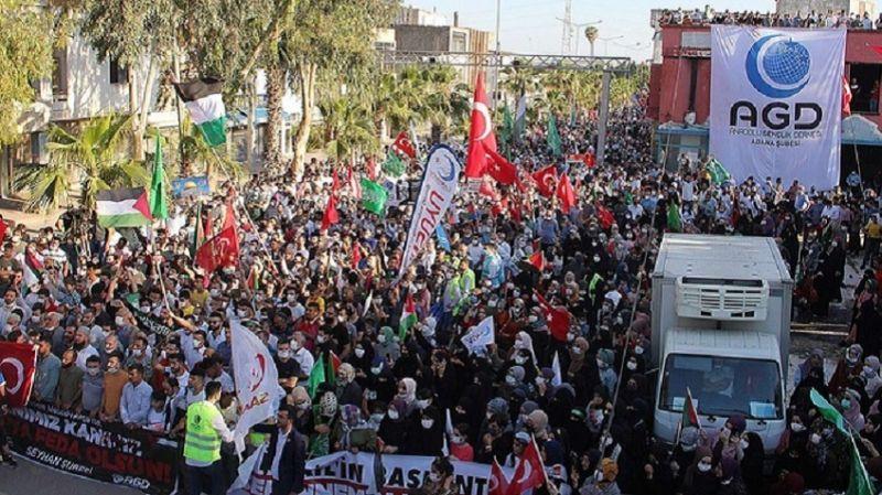 Türkiyeli Müslümanlar İncirlik'ten seslendi: Bırakın kınamayı, füze gönderin!