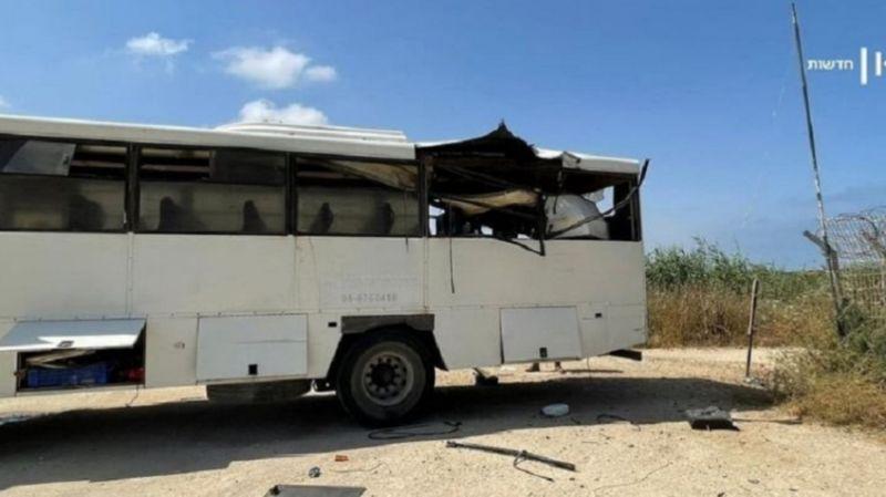 Çatışmalar yeniden alevlendi: Hamas, Siyonist rejimin askeri otobüsünü füzeyle vurdu