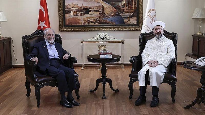 Oğuzhan Asiltürk, Ali Erbaş'ı ziyaret etti: Erbaş'tan açıklama