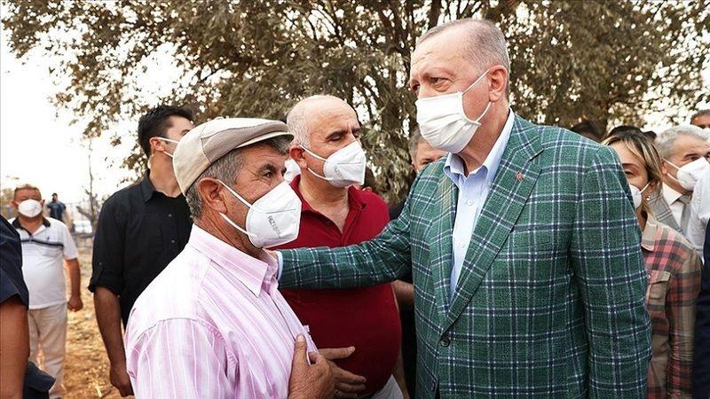 Erdoğan, yangın için desteğe gelen 4 ülkenin ismini verdi