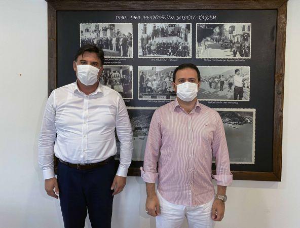 Kaymakam Fırat'tan, Başkan Karaca'ya İadeyi Ziyaret