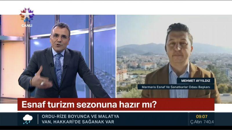 Başkan Mehmet Ayyıldız tanıtım için Ntv ve Star tv'de