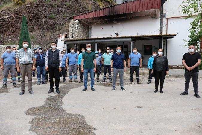 Başkan Oktay'dan işçilere teşekkür