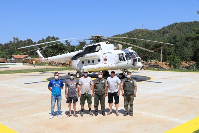 Muğla'da 2 Yangın Helikopteri Göreve Başladı