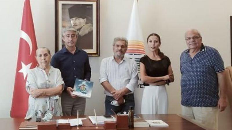 Yangına Anı Heykeli Projesi Başkan Mehmet Oktay'a Sunuldu