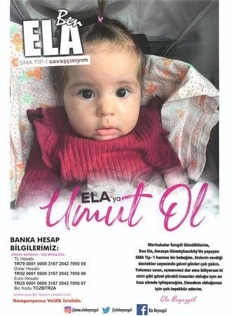 SMA hastası Ela'ya Umut Ol!