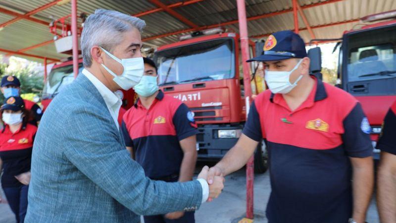 Başkan Oktay'dan itfaiyecilere teşekkür