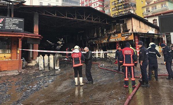 Kızılcahamam'da Yangında Zarar Gören Kasaplar Çarşısına Destek Sağlanacak