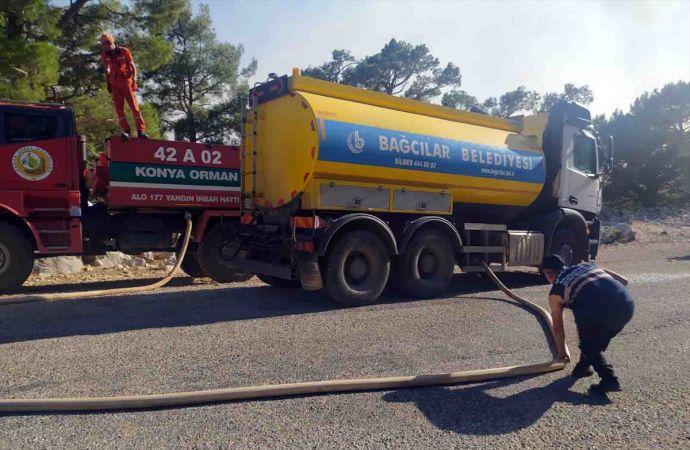 Bağcılar Belediyesi, Manavgat'a 16 Personel ve 5 Su Tankeri Gönderdi
