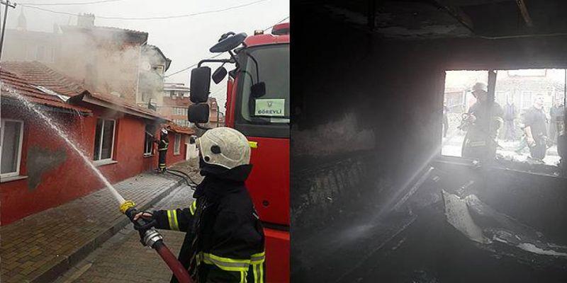 Kırklareli Lüleburgaz'da Yerleşim Yerinde Çıkan Yangın İki Eve Sıçradı! Evler Kullanılamaz Halde