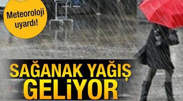Ordu, Van, Hakkari ve Erzincan'a Sağanak Uyarısı!