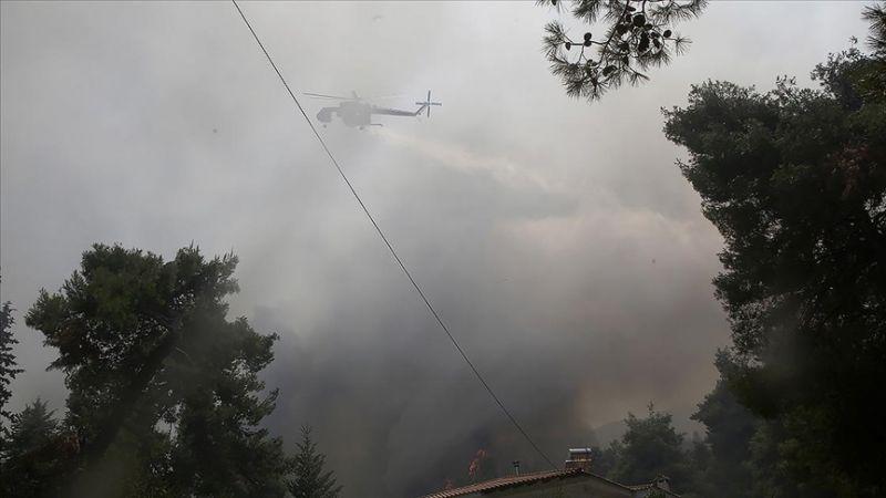 Yunanistan'da Orman Yangınları Kontrol Altına Alınmaya Çalışılıyor