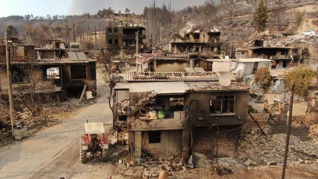 Antalya Gündoğmuş'ta Çıkan Yangına Havadan Müdahale Ediliyor!