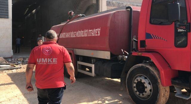 Gaziantep'te Panel Fabrikasında Çıkan Yangın Söndürüldü