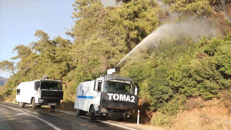 Emniyet Teşkilatı Muğla'daki Yangınlara Müdahale Ediyor