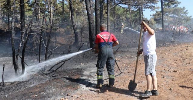 Denizli'de Ormanlık Alanda Çıkan Yangına Müdahale Ediliyor!